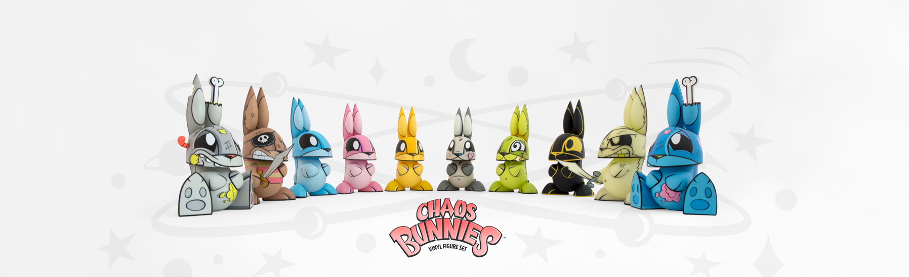 loading Chaos Bunnies vinyl figure set banner